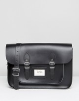 Leather Satchel Company 14 Inch Satchel in Black
