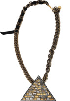 Lanvin Luxor Pyramid Necklace