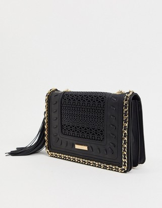 Aldo Tassel Trim Chain Strap Shoulder Bag