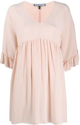 Fisico Silk Flared Mini Dress