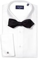 The Tie Bar White Herringbone Tuxedo Non-Iron Shirt