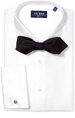 The Tie BarThe Tie Bar White Herringbone Tuxedo Non-Iron Shirt