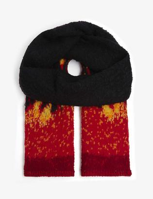 Palm Angels Burning Casentino wool scarf