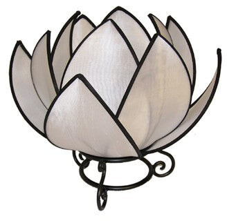 Rovan Waterlily Lamp White With Black Trim