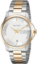 Gucci Men's YA126474 Analog Display Swiss Quartz Two Tone Watch