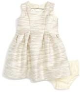 Us Angels Infant Girl's Metallic Stripe Sleeveless Dress