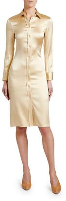Bottega Veneta Knee-Length Satin Shirtdress