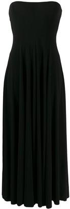 Norma Kamali Strapless Flared Dress