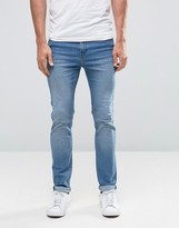 Cheap Monday Tight Skinny Jeans Blue Wave