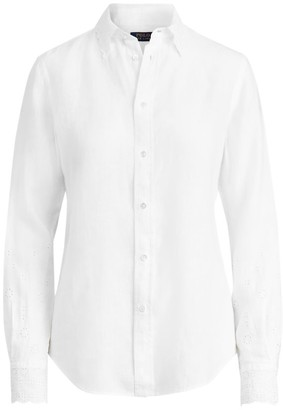 Polo Ralph Lauren Georgia Lace Collar Shirt