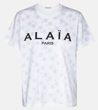 Alaia Logo cotton jersey T-shirt