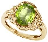 Tommaso design Studio Tommaso Design Oval 10x8mm Genuine Peridot and Diamond Ring 14k Size 7.5