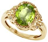 Tommaso design Studio Tommaso Design Oval 10x8mm Genuine Peridot and Diamond Ring 14k Size 9