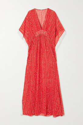 Johanna Ortiz Seychelles Printed Crepe De Chine Maxi Dress - Red