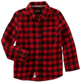 Osh Kosh Toddler Boy Buffalo Checkered Plaid Flannel Shirt