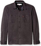 Levi's Men's Andven Long Sleeve Sweater Knit Fleece Woven