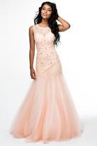 Brit Cameron - 16353 Beaded Sleeveless Mermaid Dress