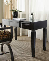 Horchow Black Glass Writing Table