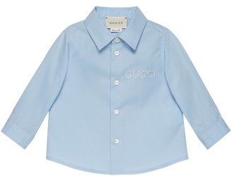 Gucci Baby embroidered poplin shirt