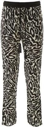Pinko Zebra Print Track Pants