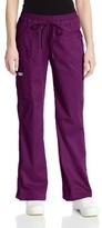 Cherokee Women's Work-wear Core Stretch Junior Fit Low-Rise Cargo Scrub Pant