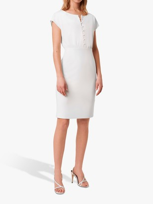 French Connection Boh Whisper Button Front Dress