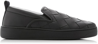 Bottega Veneta Slip On Intrecciato Leather Sneakers