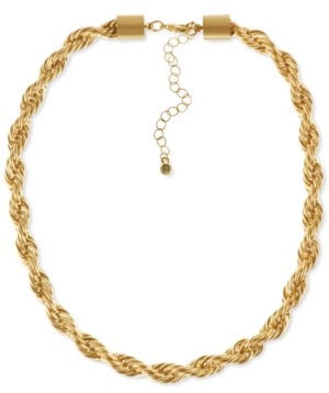 "Rachel Roy Gold-Tone Twist Link Collar Necklace, 15"" + 3"" extender"