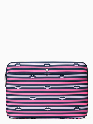 Kate Spade Jae Lip Print Laptop Sleeve