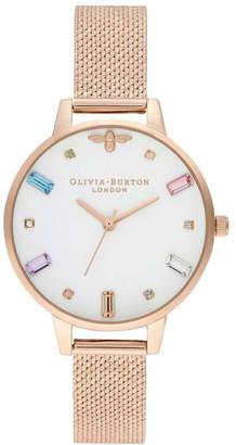 Olivia Burton OB16RB15 Rainbow Bee Rose Gold