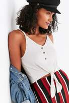 Truly Madly Deeply Isabelle Tie-Front Tank Top