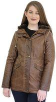 Women's MO-KA Hooded Faux-Leather Anorak Jacket