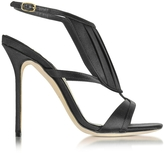Olgana Paris La Decouverte Black Satin Sandal