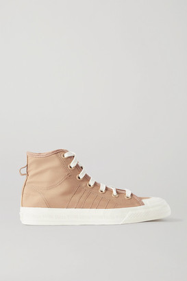 adidas Nizza Topstitched Canvas High-top Sneakers - Neutral