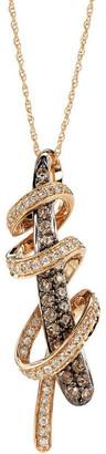 LeVian Le Vian 14K Rose Gold 0.77 Ct. Tw. Diamond Pendant Necklace