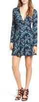 Lush Women's Floral Print Wrap Dress
