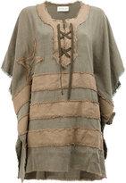Faith Connexion patchwork kaftan dress - women - Cotton/Linen/Flax - XS