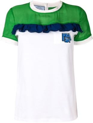Prada colour-block T-shirt