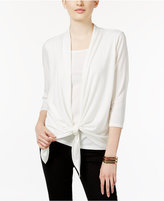 NY Collection Petite Layered-Look Tie-Front Top