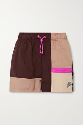 Nike Icon Clash Color-block Shell Shorts