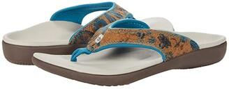 Spenco Yumi Floral Cork (Ink Blue) Women's Sandals