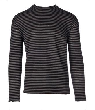 Roberto Collina Long Sleeves Stripes Crewneck