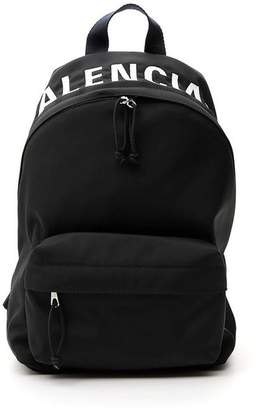 Balenciaga Logo Zipped Backpack