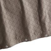Pier 1 Imports Charcoal Diamond Matelasse Duvet Cover - Full/Queen