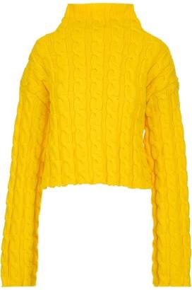 Balenciaga High Neck Knit Sweater