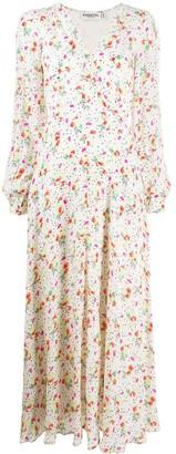 Essentiel Antwerp Long Floral Print Flared Dress