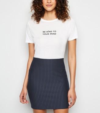 New Look Pinstripe Mini Tube Skirt