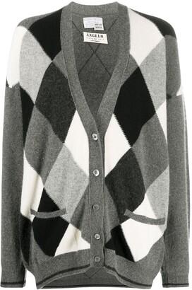 A.N.G.E.L.O. Vintage Cult 1980s Argyle Pattern Loose-Fit Cardigan