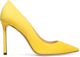 Jimmy Choo Romy Suede Point-toe Pumps - Bright yellow