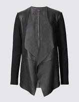 Twiggy Leather Waterfall Jacket
